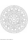 Coloring page mandala-1502l