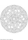 Coloring page mandala-1502p