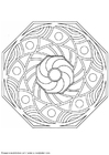 Coloring pages mandala-1502r