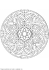 Coloring pages mandala-1502t