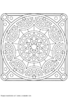 Coloring pages mandala-1502w