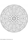 Coloring pages mandala-1602a