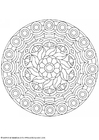 Coloring pages mandala-1602b