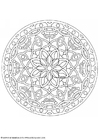 Coloring pages mandala-1602c