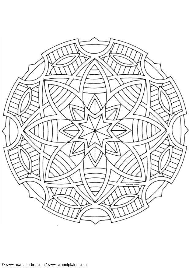 coloring page mandala 1602f img 4505. Black Bedroom Furniture Sets. Home Design Ideas