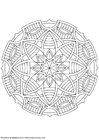 Coloring pages mandala-1602f