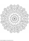 Coloring pages mandala-1602g