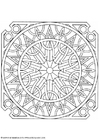 Coloring pages mandala-1602h