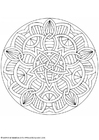Coloring pages mandala-1602j