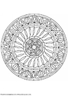 Coloring pages mandala-1602k