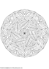 Coloring pages mandala-1602m