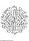 Coloring pages mandala-1602n