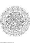 Coloring pages mandala-1602o