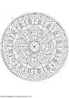 Coloring pages mandala-1602p