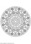 Coloring pages mandala-1602q