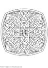 Coloring pages mandala-1702a