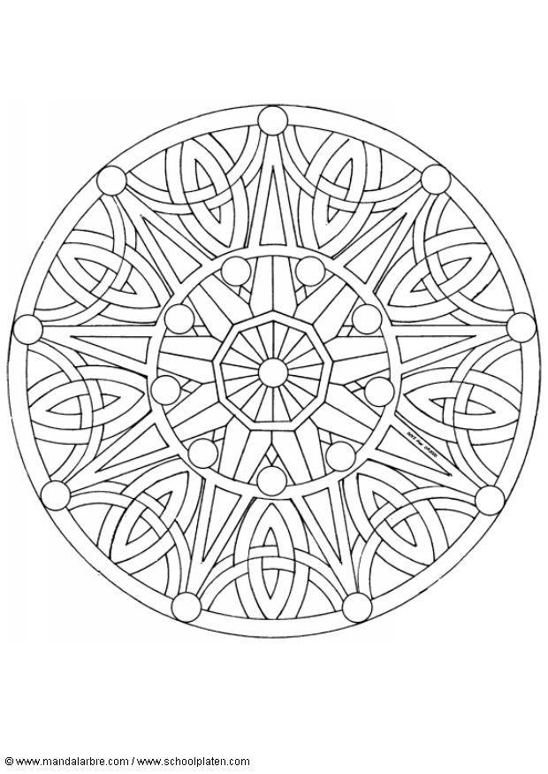 coloring page mandala 1702b img 4518 images. Black Bedroom Furniture Sets. Home Design Ideas