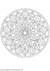 Coloring pages mandala-1702c