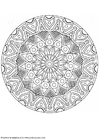 Coloring pages mandala-1702d