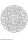 Coloring pages mandala-1702f