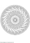 Coloring pages mandala-1702g