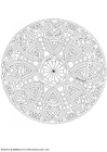 Coloring pages mandala-1702h