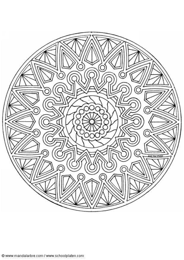 Kleurplaat Meiden 8 Jaar Coloring Page Mandala 1702i Free Printable Coloring Pages