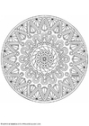 Coloring pages mandala-1702i
