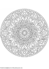 Coloring pages mandala-1702j