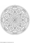 Coloring pages mandala-1702k