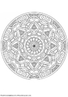 Coloring pages mandala-1702l