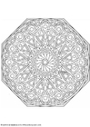 Coloring pages mandala-1702n