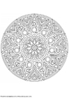 Coloring pages mandala-1702o