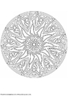 Coloring pages mandala-1702p
