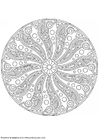 Coloring pages mandala-1702r