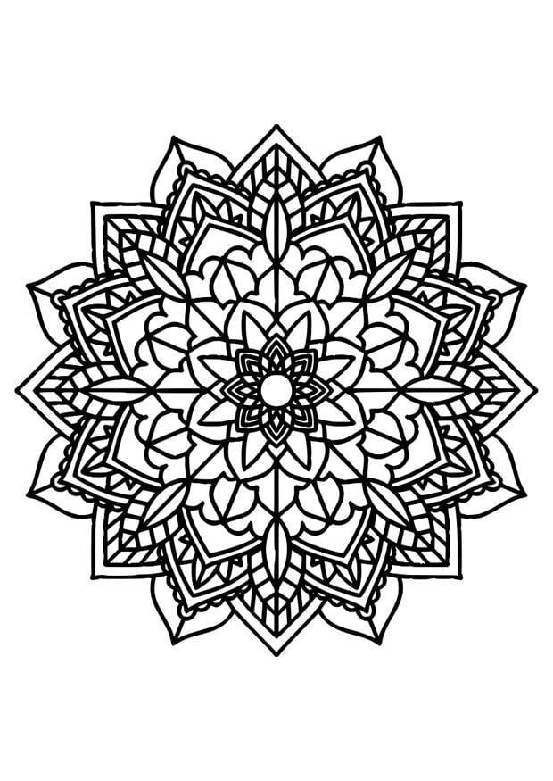 Coloring Page mandala - free printable coloring pages