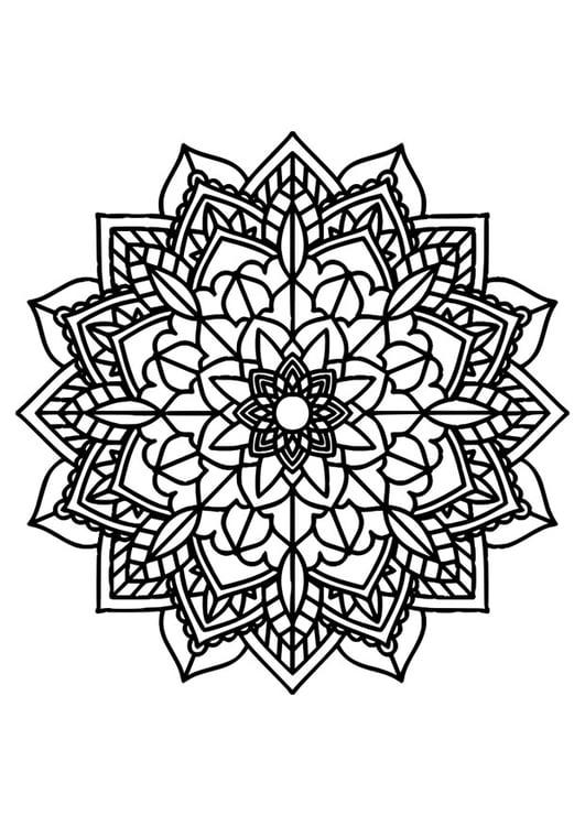 coloring page mandala img 30385