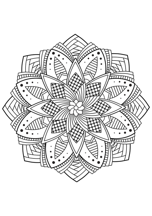 Coloring page mandala flower