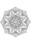 Coloring pages mandala flower