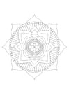 Coloring pages mandala - lotus