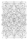 Coloring pages mandala - star