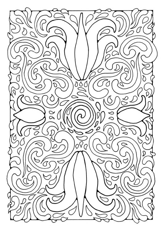 Kleurplaten A4 Formaat Coloring Page Mandala1a Free Printable Coloring Pages