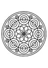 Coloring pages mandala21