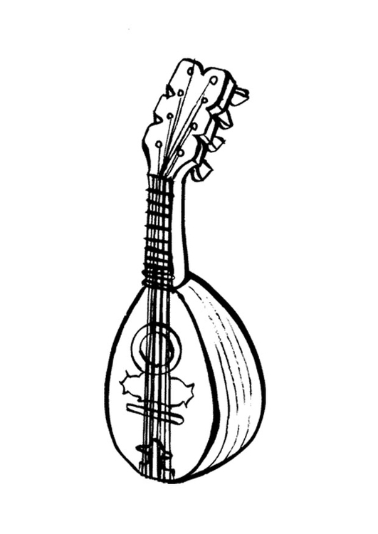 Coloring page mandolin