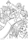 Coloring pages Manga- city of the future