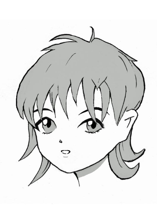 Coloring page manga girl
