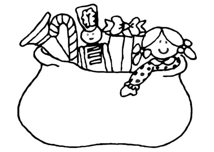 Coloring page many presents