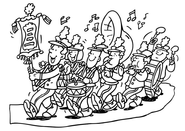 Coloring page marching band