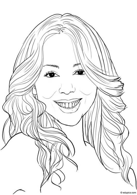 Coloring page Mariah Carey