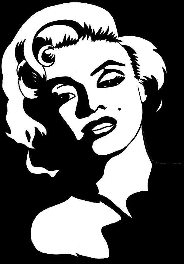 Coloring page Marilyn Monroe img 5666